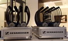 Sennheiser tourguide system in portable charging station/storage case